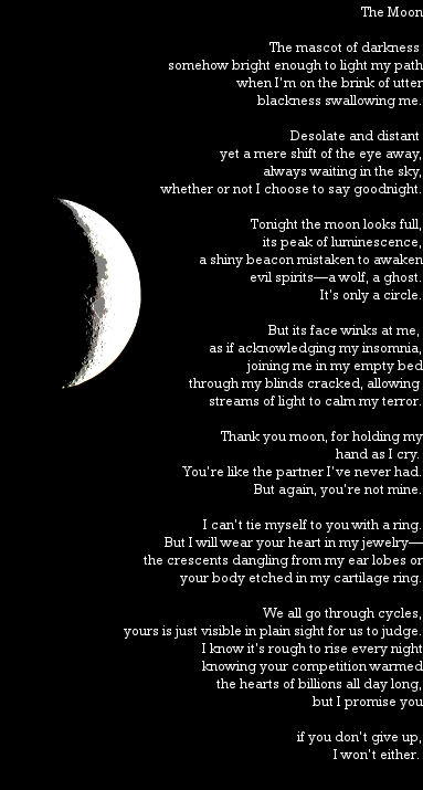 The moon poem